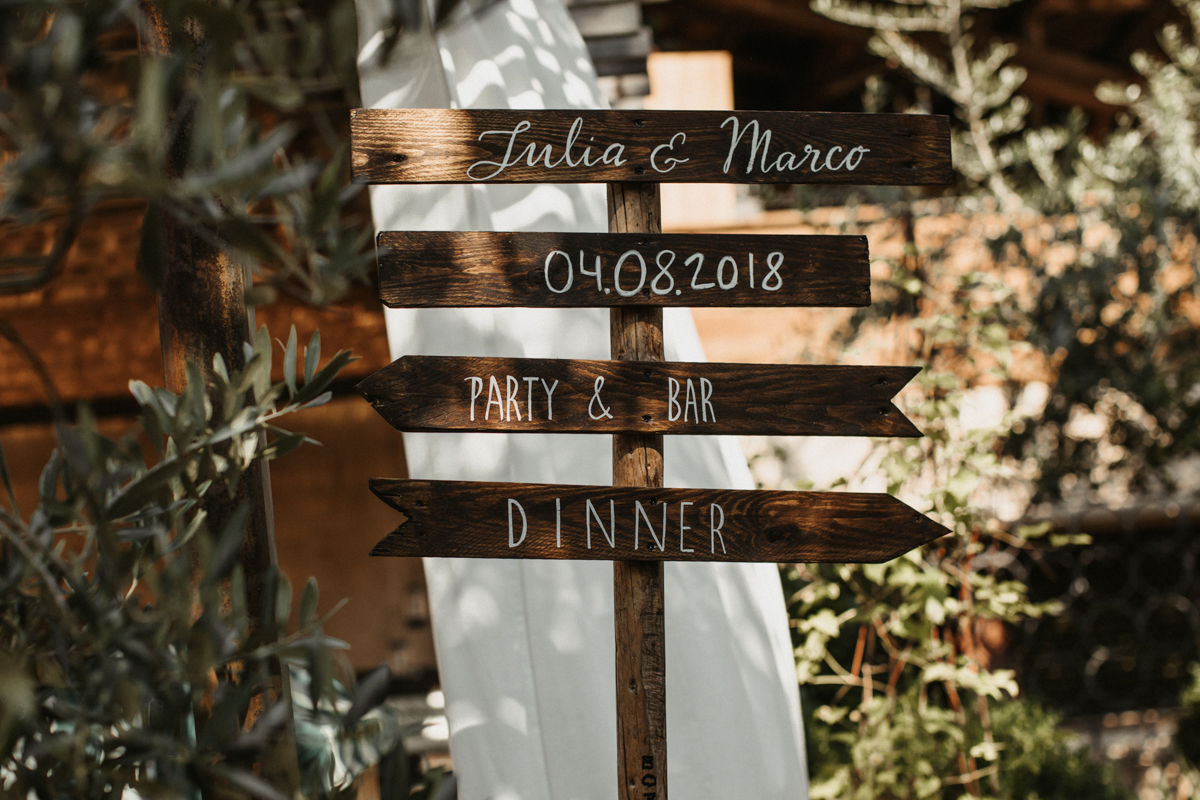 Boho summer wedding in Italy