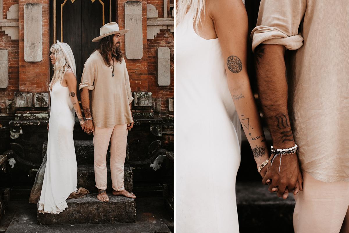Free spirit wedding on Bali